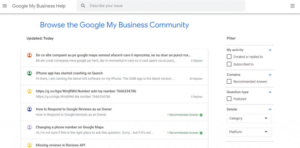contact Google My Business
