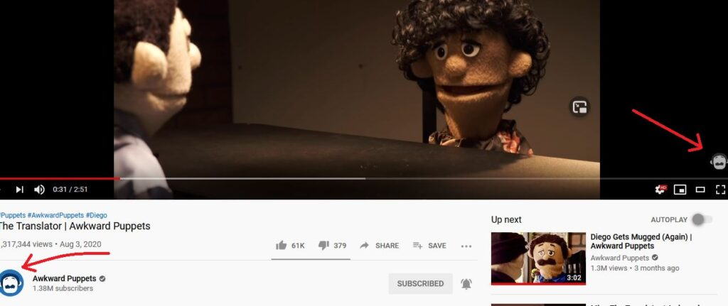 branded subscribe button on youtube