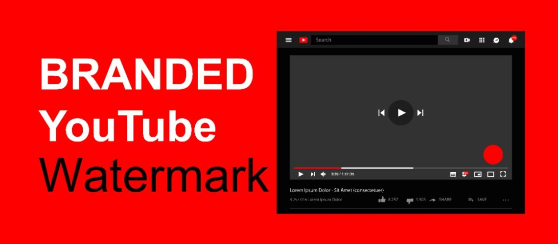 YouTube branded watermark