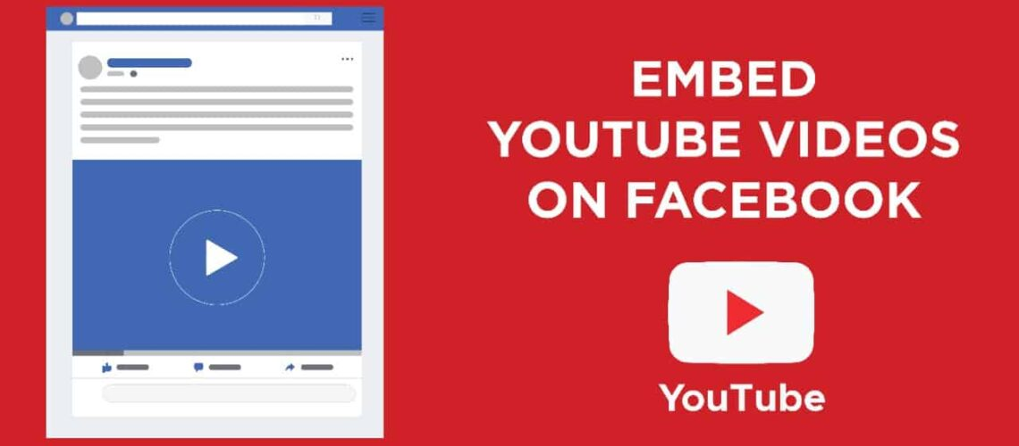 Embed youtube videos on facebook
